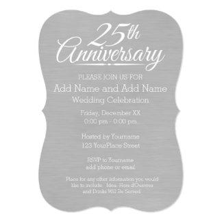 25o Aniversário de casamento personalizado Convite 12.7 X 17.78cm