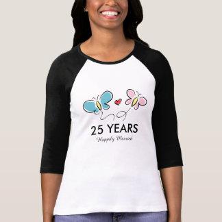 25o Camisa | do aniversário de casamento t