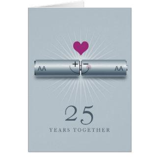 25o cartão bonito do aniversário de casamento