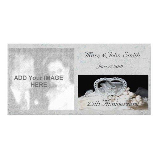 25o Cartão com fotos do aniversário de casamento