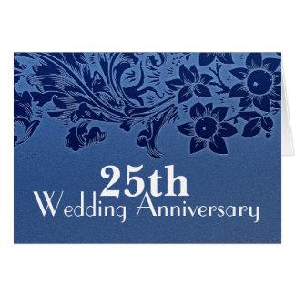 25o cartão do azul do aniversário de casamento