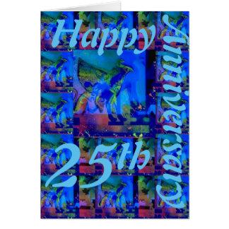 25o cartão feliz do aniversário