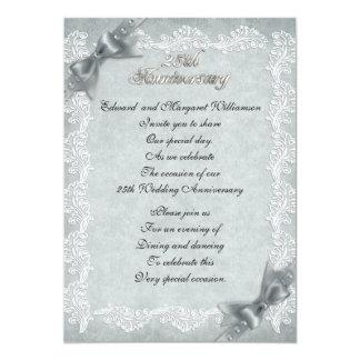 25o convite da festa de aniversário do casamento