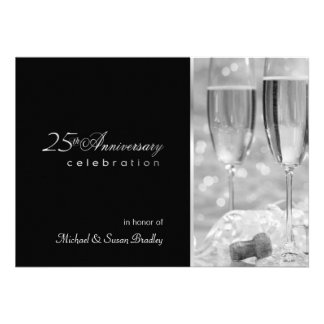 25o convite elegante da festa de aniversário