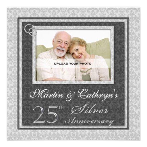 25o Convite feito sob encomenda da foto do anivers