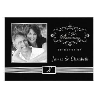 25o Convites da festa de aniversário - com foto