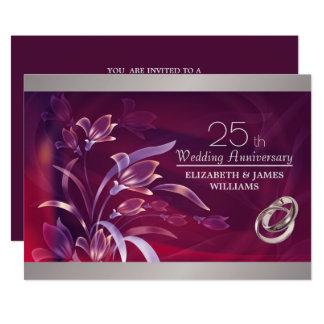 25o Convites da festa de aniversário do casamento