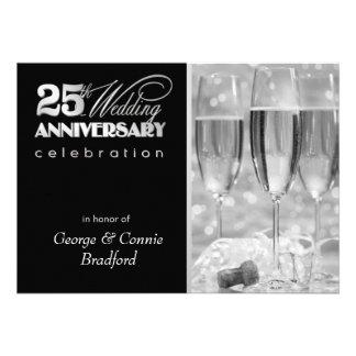 25o Convites da festa de aniversário - personaliza