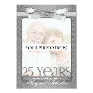 25o Convites da foto do aniversário de casamento