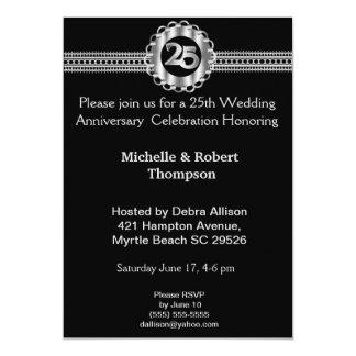 25o Convites do aniversário de casamento