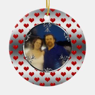 25o Lembrança da foto do aniversário de casamento  Ornamento