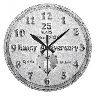 25o Partido do brilho do aniversário de casamento Relógio Grande