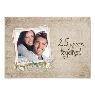 25o Renovação do voto do aniversário de casamento Convite Personalizado