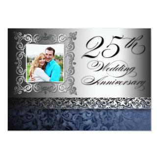 25os convites da foto do aniversário de casamento