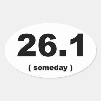 """26,1"""" um dia"""" autocolante no vidro traseiro adesivo oval"""