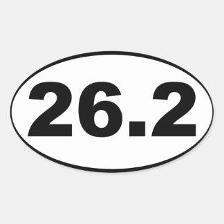26,2 Maratona Adesivo Oval