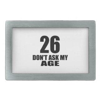26 não peça meu design do aniversário da idade