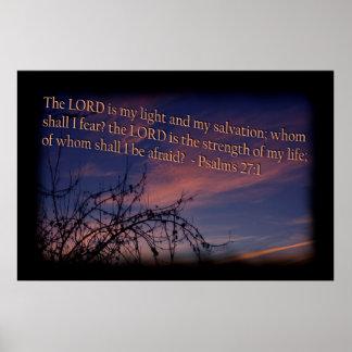 27:1 do salmo na beira do preto do alvorecer poster