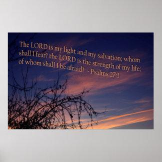 27:1 do salmo no alvorecer poster