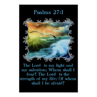 27:1 dos salmos o senhor é minha luz e meu pôster