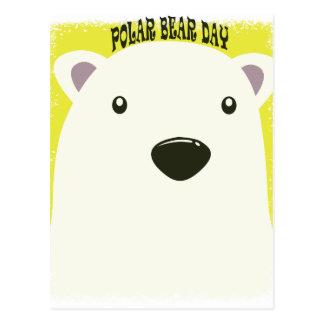 27 de fevereiro - dia do urso polar cartão postal