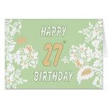 27o Cartão do aniversário