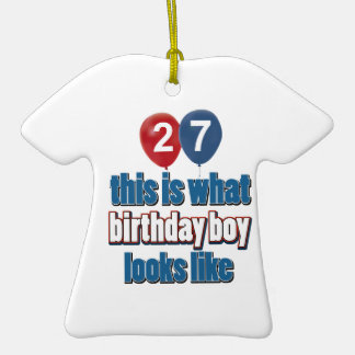 27o design do aniversário do ano enfeite