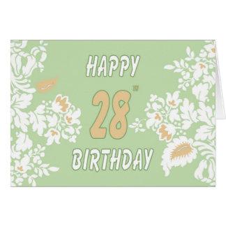 28o cartão do aniversário