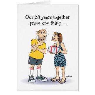 28o Cartão do aniversário de casamento: Amor
