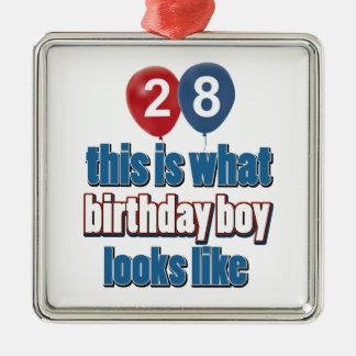 28o design do aniversário do ano ornamento para arvores de natal