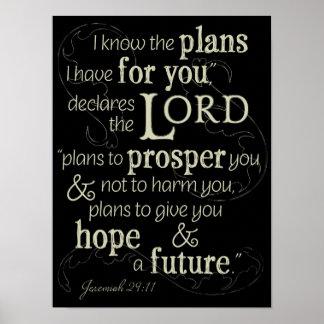 29:11 de Jeremiah eu sei os planos que eu tenho Pôster