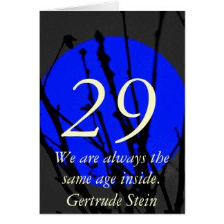 29 cartão de aniversário azul e preto