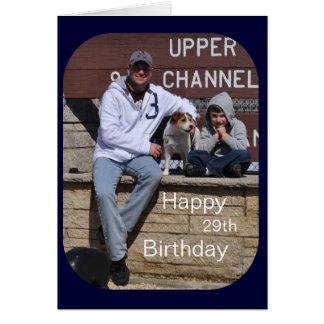 29o cartão com fotos feliz do aniversário por Janz