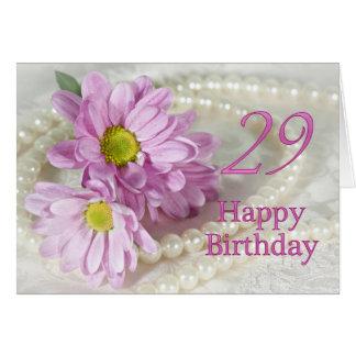 29o Cartão de aniversário com margaridas
