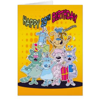 29o Cartão de aniversário - Moonies Doodlematoons