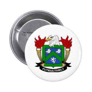 2 1/4 de botão de brasão de Putman Bóton Redondo 5.08cm