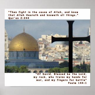2:244 de Qur'an & 144:1 do salmo Pôsteres