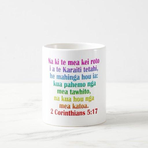 2 5:17 dos Corinthians maori Caneca