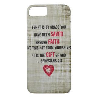 2:8 de Ephesians do verso da bíblia Capa iPhone 8/ 7