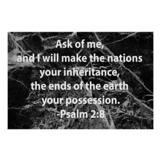 2:8 do salmo pôster
