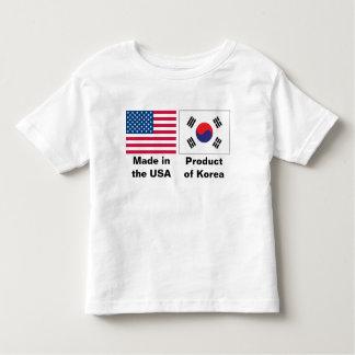2 bandeiras, feitas nos EUA, produto de Coreia Camiseta