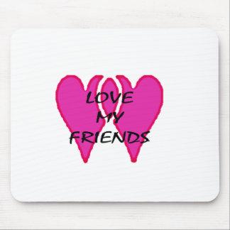 2 corações amam junto meu modelo dos amigos mouse pad