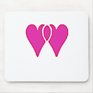 2 corações amam junto o modelo do RB Mousepad
