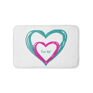 """""""2 corações """" tapete de banheiro"""
