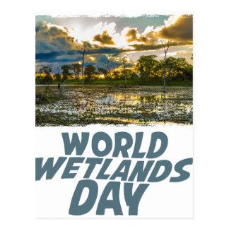 2 de fevereiro - dia dos pantanais do mundo cartão postal