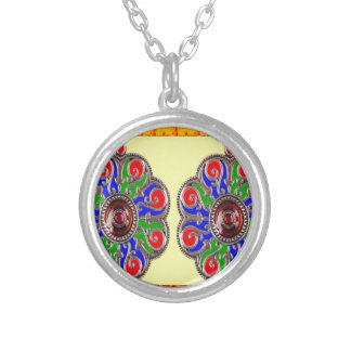 2 decorações do indiano de Ethinic da jóia de Colar Com Pendente Redondo