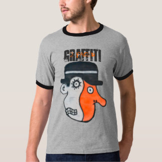 2 enfrentado (grafites) camiseta