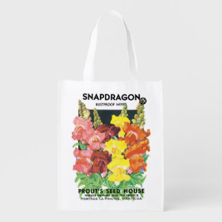2 flores diferentes da arte da etiqueta do pacote sacola ecológica para supermercado