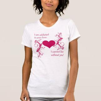 2 frases românticas a seu t-shirt do homem