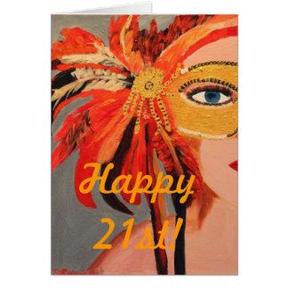2ø feliz! cartão de nota